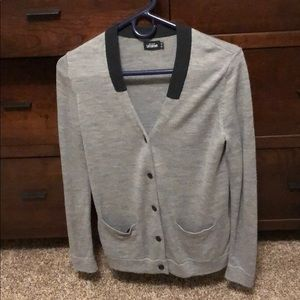 Kate Spade black and gray contrast cardigan